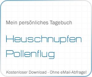 Mein persönliches Tagebuch: Pollenflug/Heuschnupfen
