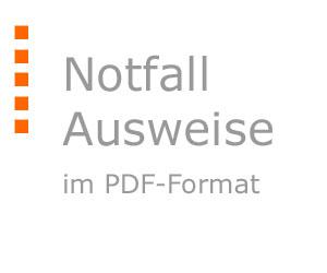 Notfall-Ausweise im PDF-Format